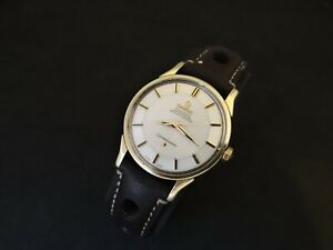 VINTAGE OMEGA CONSTELLATION PIE PAN GOLD & STEEL ORIGINAL DIAL AUTOMATIC CAL 551