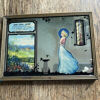 Vintage Advertising Thermometer Mirror Silhouette Yadro Service Station Illinois