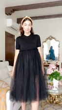 Comme Des Garcons Cashmere And Tulle Black Dress Size XS