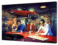 CASINO RICK'S ELVIS PRESLEY,MARILYN MONROE JAMES DEAN PHOTO PRINT ON CANVAS