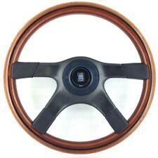 Genuine Nardi Gara 365mm 4 spoke wood rim steering wheel and horn. Classic. 8C