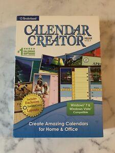 Calendar Creator - Broderbund Program CD Windows Vista, 7 NIB! Sealed!