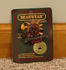Boyds Bears & Friends Bearware Libearty Loyal Order Fob Brooch Pin 01998-11
