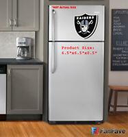 New NFL Oakland Raiders 3-D Foam Magnet Home Office Bar Decor - Made in USA
