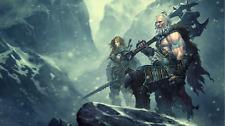 Video Game  Diablo III 3 Silk Poster Wallpaper 24 X 13 inch