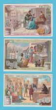 LIEBIG - SET OF 6 CARDS -  S 921  /  F 919  -  MONEY OF DIFFERENT TIMES  -  1908
