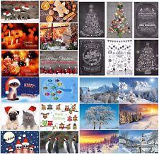 Weihnachtskarten-Set (24 St.) - ein bunter Mix aus verschiedenen Motiven