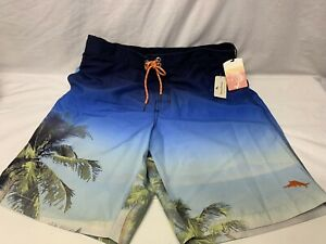NEW Tommy Bahama Relax Men's Blue Palm Trees Swimming Board Shorts M Medium NWT
