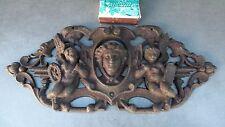 Ancienne superbe grille décorative en fonte pour portail à décor d'angelots