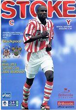 Stoke City v Blackpool - Division 2 - Programme 26th September 1998