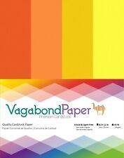 "Premium Quality 8.5"" x 11"" ORANGE & YELLOW CARDSTOCK PAPER - 20 Sheets"