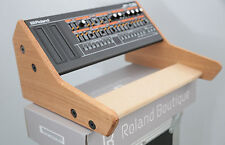 SOLID OAK DUAL ROLAND BOUTIQUE JX03 JU06 JP08 A01 MIDI SYNTH 2 TIER STAND