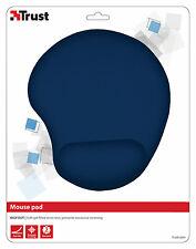 Nueva Computadora Trust 20426 Bigfoot Azul Mouse Mat/Pad con relleno de Gel Descanso de la muñeca