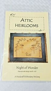 """Attic Heirlooms Pattern Packet Embroidery """"NIGHT OF WONDER"""" SE110P- NEW"""