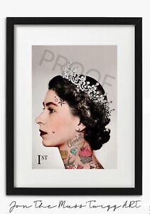 "First Class Scamp: Tattoo Queen Modern Art Fashion Print (12""x8"")"