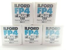 5 x ILFORD FP4 PLUS 125 35mm 36 Exp CHEAP B&W FILM By 1st CLASS ROYAL MAIL