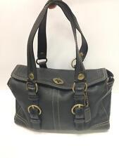COACH Leather Purse Handbag Bag Black Adjustable Straps MINT Condition