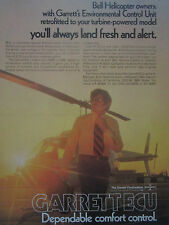 7/1977 PUB GARRETT BELL HELICOPTERS ECU ENVIRONMENTAL CONTROL UNIT ORIGINAL AD