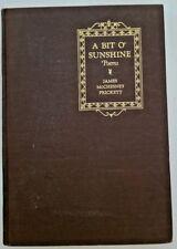 A BIT O' SUNSHINE Poems by James McChesney Prickett ~ Rural Retreat, VA~Signed