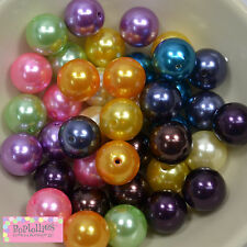20mm Bubblegum Beads Lot 40 pc.MIX PEARLS Beads Chunky Jewelry Necklace