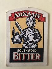 Adnams Bitter Sole Bay Brewery Southwold Vintage Beer Mat