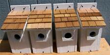 New listing 4 Bluebird Bird Houses Nest White/ Cedar Shake Free S/H Handmade By Cedarnest