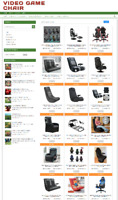 VIDEO GAME CHAIR WEBSITE BUSINESS WITH 1 YEARS HOSTING + NEW DOMAIN