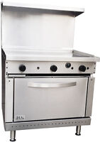 "New Commercial 36"" Griddle Range with Oven. Made in USA by ideal. ETL approved"