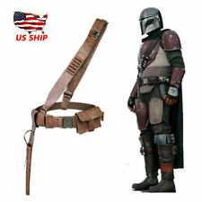 XcoserThe Manda PU Leather Cosplay Belt Gun Holster For Adults 1:1Scale US Ship
