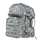 ACU Camo MOLLE Compatible Adjustable Camping Hiking Daypack School Backpack