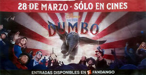 Original huge DUMBO billboard movie poster - Tim Burton