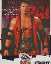"AJ STYLES signed Autographed ""TNA"" 8X10 PROMO PHOTO - WWE X Division Champ COA"
