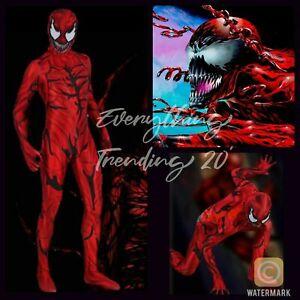 Kids Carnage Costume Cletus Kasady MARVEL Venom Cosplay NEW for 2021