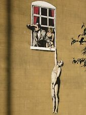 "Lovers by Banksy, Graffiti Art, 8""x10.5"", High Quality Canvas Print"