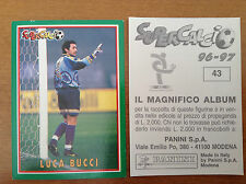 SUPERCALCIO 1996 1997 96 97 n 43 LUCA BUCCI Figurina Sticker Panini NEW