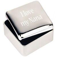 bijoux en argent Boîte de BIBELOT CADEAU J'aime mon Nana