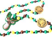 Deer Hunter Mardi Gras Bead Necklace New Orleans Bayou Shotgun Cajun Antler
