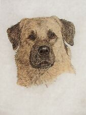 Geoffrey Lasko - Anatolian Shepherd Dog - Hand Colored Etching -S&N - Free Ship
