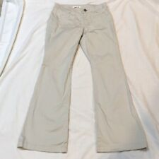 CAbi Khaki Pants Style #801R Size 4 Flare Stretch Square Pockets