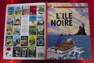 Les Aventures de Tintin l'Ile Noire Casterman daté 1984