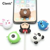 Cute Cartoon Mickey Mouse Hello Kitty Cable Cord Protector Holder For iPhone