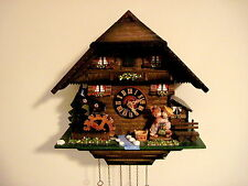 Vintage Germany Black Forest Chalet Cuckoo Clock  Hones No. 2685 Kissing Couple