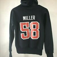 NFL Team Apparel Denver Broncos #58 Miller Blue Hoodie Womens medium