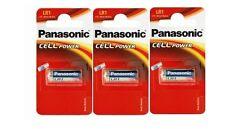 Panasonic lot de 3 piles LR1 MN9100 N   1.5V alcaline (en blister de 1 pile)