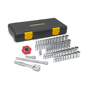 GearWrench 80300P 1/4 in. Drive Ratchet SAE METRIC 51-Piece Socket Set w/ Case