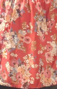 Ralph Lauren Bedskirt Dust Ruffle - Madeline Red Floral - Cotton Queen