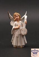 9942157 Wagner & Apel Porzellan Engel mit Laute Weihnachten Krippe H13cm