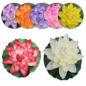 Pool Lotus Flower Realistic Water Artificial Decoration Décor Floating