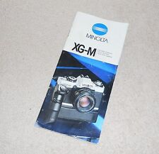 Minolta XG-M 35mm Film Camera Brochure Sales Pamphlet