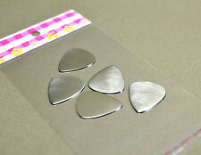 5 pc sterling silver guitar picks - blank and playable